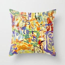 Shamanic Painting 04 Throw Pillow