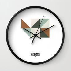 Geometric Washington Wall Clock
