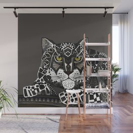 snow leopard lead Wall Mural
