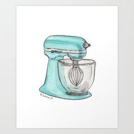 Turquoise Mixer Art Print