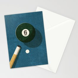 BILLIARDS / Ball 6 Stationery Cards