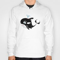 killer whale Hoodies featuring Cute Killer Whale by markmurphycreative