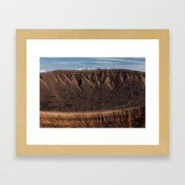 Little Hebe Crater Framed Art Print