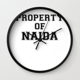 Property of NAIDA Wall Clock