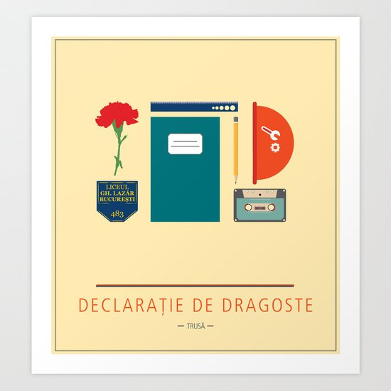 "ROMANIAN MOVIE ""DECLARATIE DE DRAGOSTE"" Art Print"