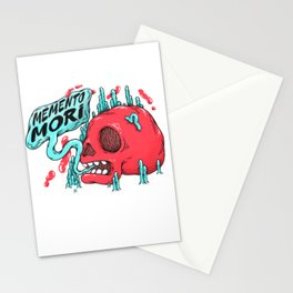 Momento Mori Skull Quote Stationery Cards