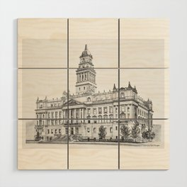 Wayne County Court House | Detroit Michigan Wood Wall Art
