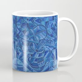The Blues Band II Painting from Africa Coffee Mug
