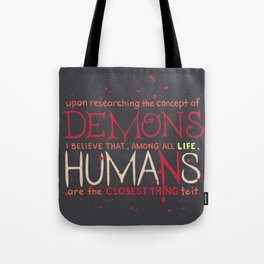Parasyte Quote Typography Tote Bag