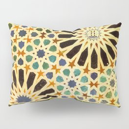 """""""Mexuar room"""". Details in The Alhambra Palace.  Pillow Sham"""