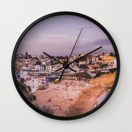 Carvoeiro town and beach in Lagoa, Algarve, Portugal. Wall Clock