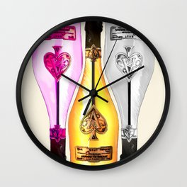 Ace of Spades Champagne Wall Clock