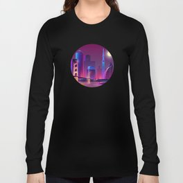 Synthwave Neon City #1 Long Sleeve T-shirt