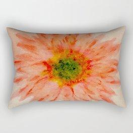 salmon flower Rectangular Pillow