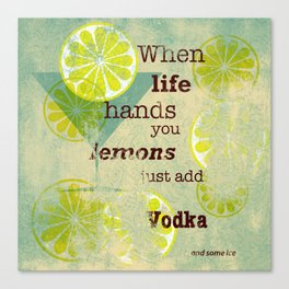 Add Vodka Canvas Print
