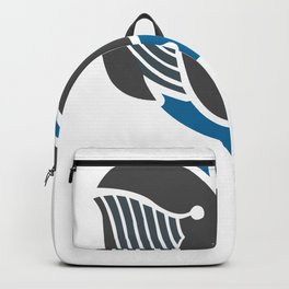 Awesome Minimalist Whale Design for Ocean and Sea Lovers Backpack