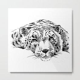 Chilling Leopard Metal Print