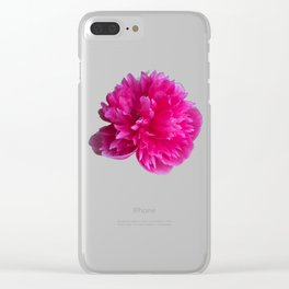 Tattered rose Clear iPhone Case