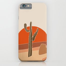 Big desert sun iPhone Case