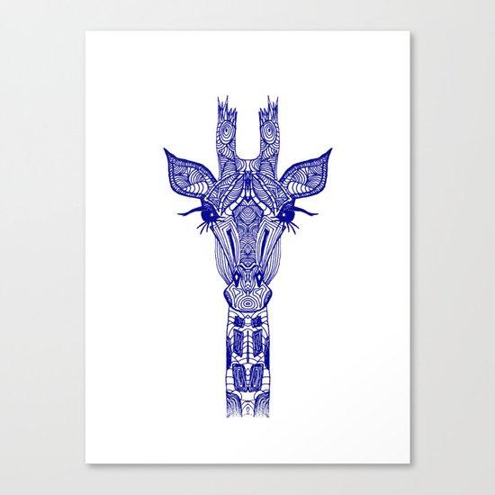 GIRAFFE BLUE Canvas Print