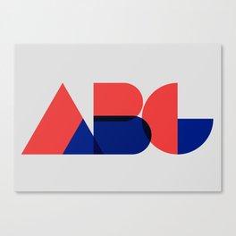 Geometric ABC Canvas Print