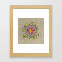 Growing - Pinus 1 - plant cell embroidery Framed Art Print