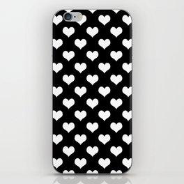 Black White Hearts Minimalist iPhone Skin