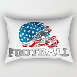 Football in Red and Blue Rectangular Pillow
