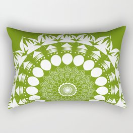 Green Mandala Rectangular Pillow