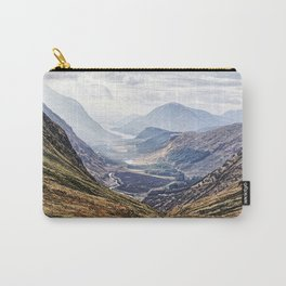 View of Glen Etive from Glencoe, Scotland Carry-All Pouch