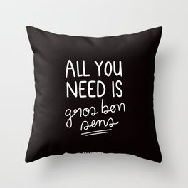 Gros Bon Sens - White Throw Pillow