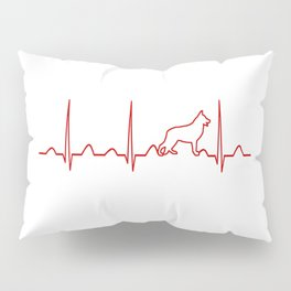 German Shepherd Heartbeat Pillow Sham