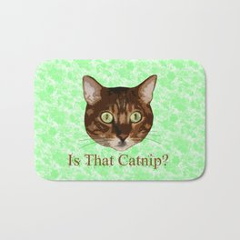 Catnip Crazed Cat Bath Mat