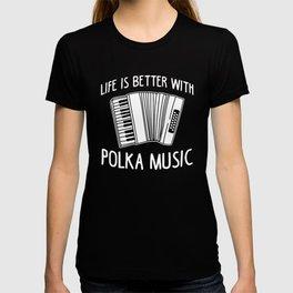 Polka Music Accordion Player Piano Accordionist T-shirt