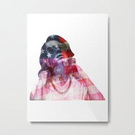 Lana Del Art (Stone American Flag) Metal Print