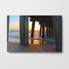 Sunset Under Pier 1216 Metal Print