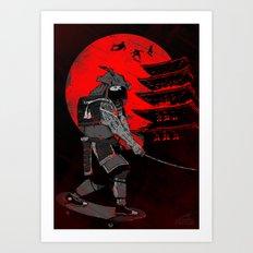 Skater Samurai Art Print