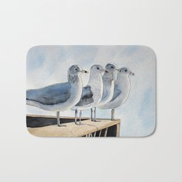 Group of Seagulls Bath Mat