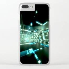 Emerald Tunnels no2 Clear iPhone Case