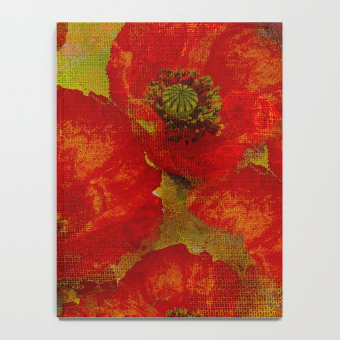 Poppies red & orange Notebook