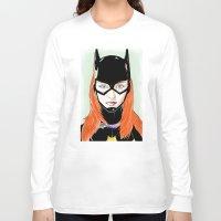 batgirl Long Sleeve T-shirts featuring Batgirl by Matthew Bartlett