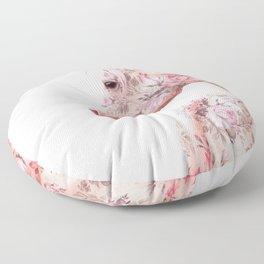 FLORAL HORSE Floor Pillow