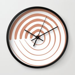 Spiral of Resilience Brown Brick 3 of 3 Art Print Wall Clock