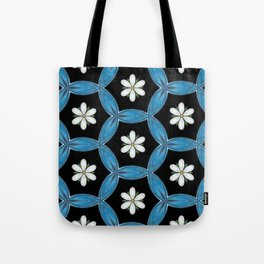hippie flower pattern Tote Bag