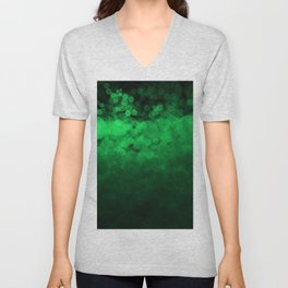 Green Spotted Unisex V-Neck
