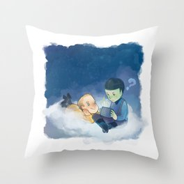 On the cloud Throw Pillow