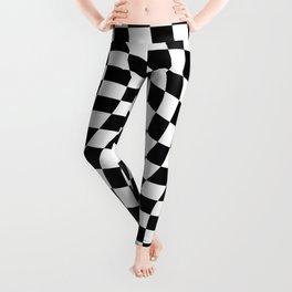 Check VIII - Black Twist — Checkerboard Print Leggings