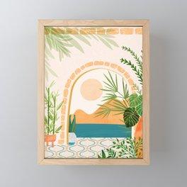 Baja California Villa Framed Mini Art Print