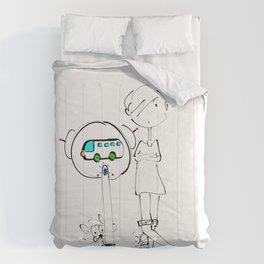 bus stop Comforters