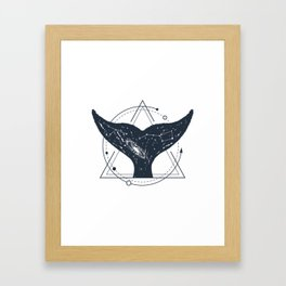 Tail Of A Whale. Geometric Style Framed Art Print